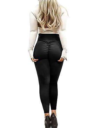 dbfa702e906ed Imily Bela Womens Tummy Control Ruched Booty Yoga Pants Depot Workout  Stretchy Leggings (X-Large, Black): Amazon.co.uk: Clothing