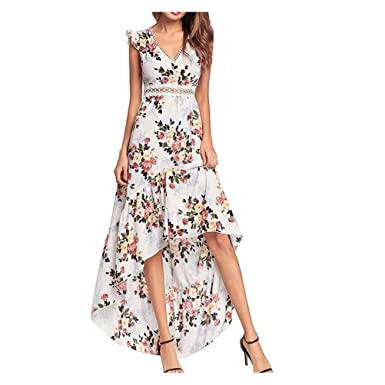 Women Floral Print Flowy Party Maxi Dress Loose Long Evening Formal
