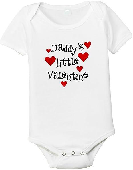 f0aafd0b6 Amazon.com: Daddy's Little Valentine Baby Shirt: Clothing