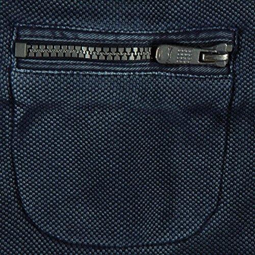 engbers Herren Sweatjacke mit modischer Waschung, 24656, Blau