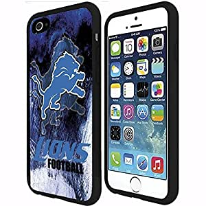 Blue, Black and White Detroit Lions Football Sports PC Snap on Phone Case (Case Cover For Ipod Touch 5 )