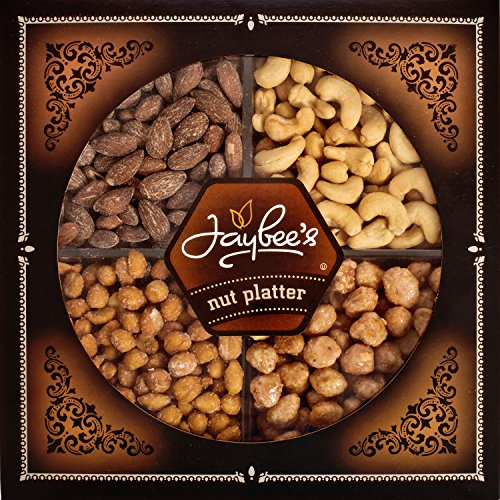 Jaybee's Nuts Gift Tray - Great Holiday, Corporate, Birthday Gift, or as Everyday Healthy Snack - Cashews, Smoked Almonds, Toffee & Honey Roasted Peanuts, Vegetarian Friendly and Kosher by Jaybee's (Image #4)'