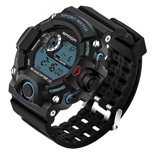 Relojes Deportivos para hombre Digital Domybest Reloj de Pulser de Cuarzo analógico, resistente al agua