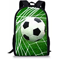 Instantarts Funny Soccer Print Kids School Backpacks Durable Book Bags for Boys