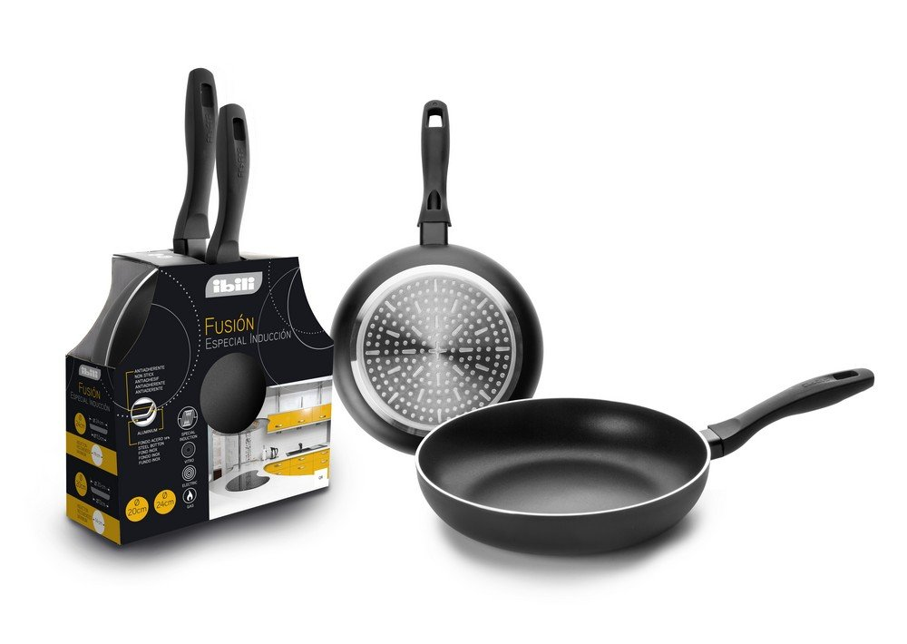 IBILI 450100 - Lote Sarten Fusion 20+24 Cm: Amazon.es: Hogar
