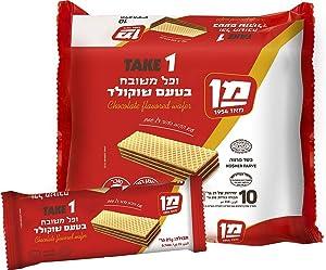 Take 1 Chocolat Flavored Wafers Kosher Vegan By Man Israeli Product 10x21g