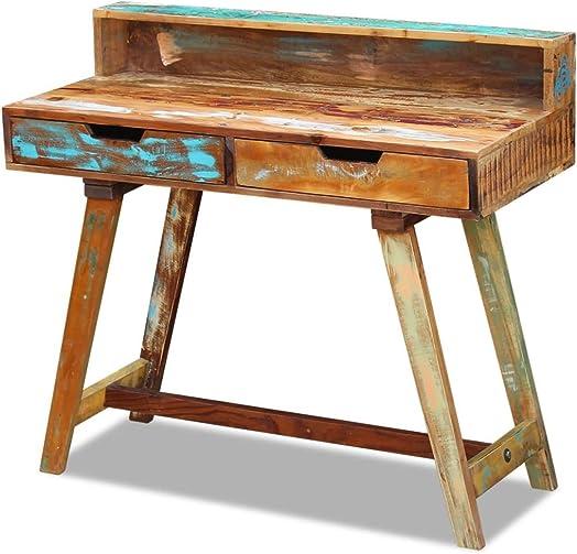 Cheap Festnight Reclaimed Wood Desk home office desk for sale