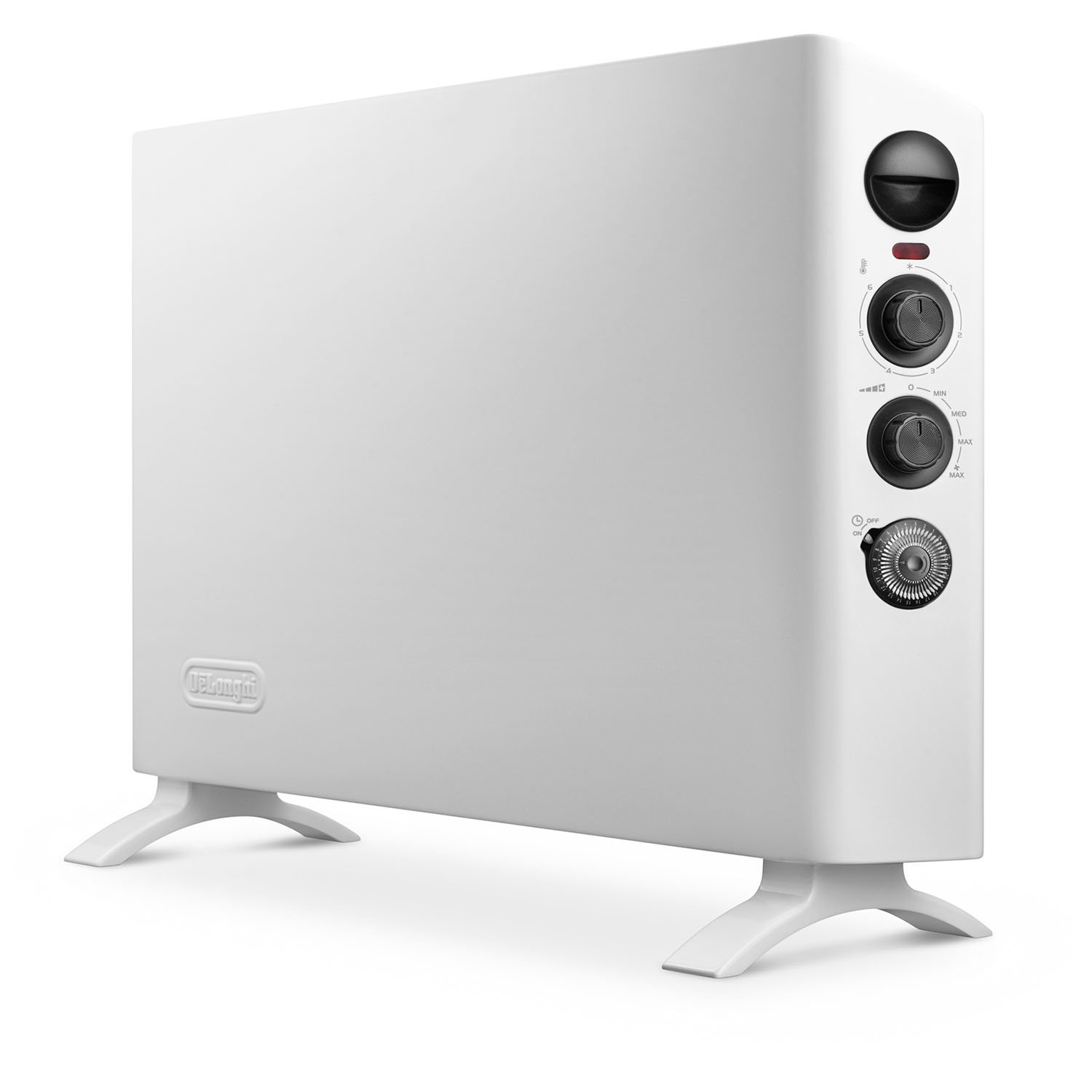 DeLonghi HSX3315FTS Slim Style Digital 1500W Convection Panel Heater with Dual Fan, White