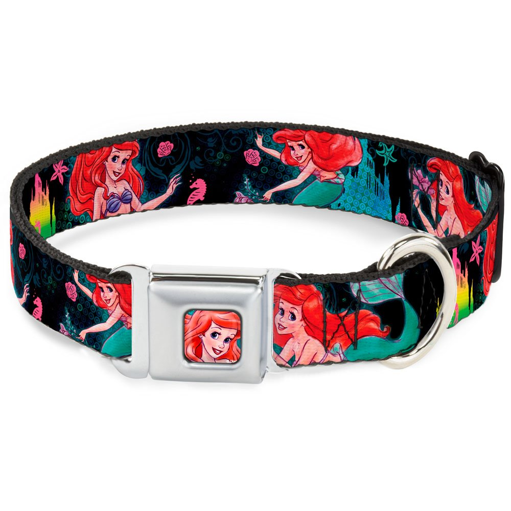 Buckle Down Dybm Ariel FACE2 Turchese Dog Collar