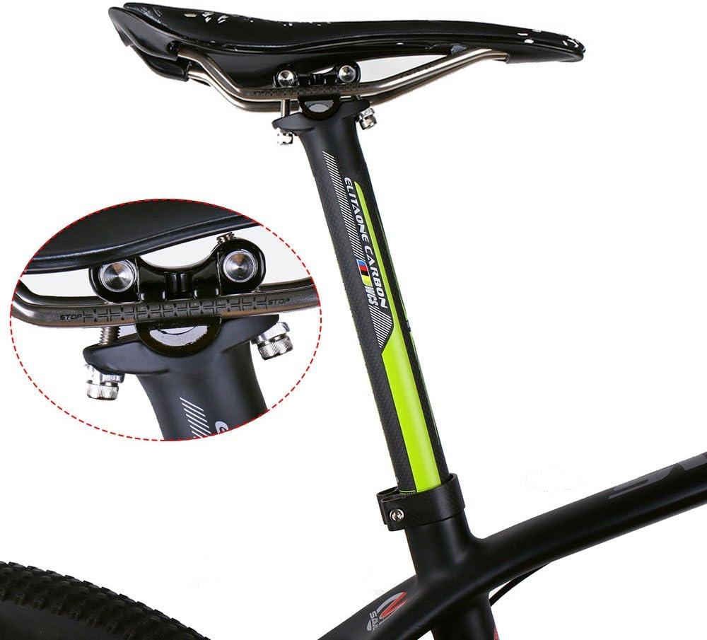 ELITA ONE in fibra di carbonio bici reggisella bici da strada e mountain bike 3 K Carbon reggisella /ø27.2//31.6 350 MM verde logo
