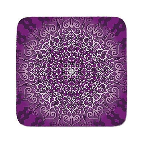 Cozy Seat Protector Pads Cushion Area Rug,Purple Mandala,Round