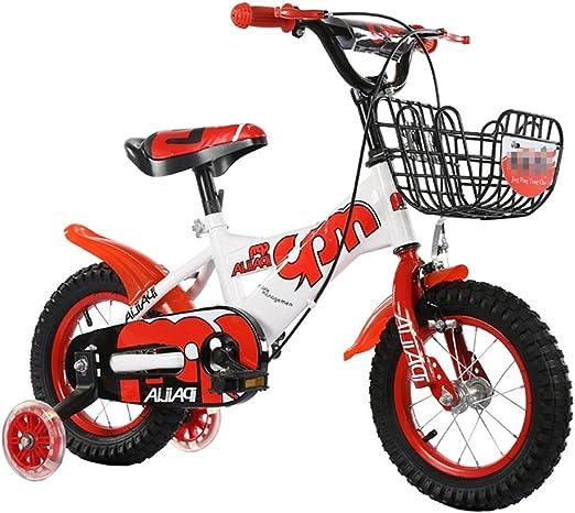 SXZHSM Bicicletas For Niños For Niños Y Niñas Juguetes For Bebés 2-3-6-8 Ruedas De Entrenamiento De Flash Manillar De Bicicleta De Montaña/Altura del Sillín Se Puede Ajustar Al Aire Libre -12/14/1: Amazon.es:
