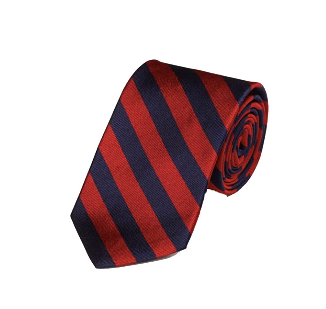 Gitman Woven Repp Stripe Red Tie