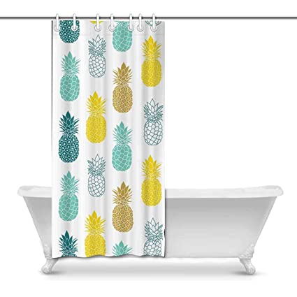 Image Unavailable Not Available For Color Fresh Blue Yellow Shower Curtain Set