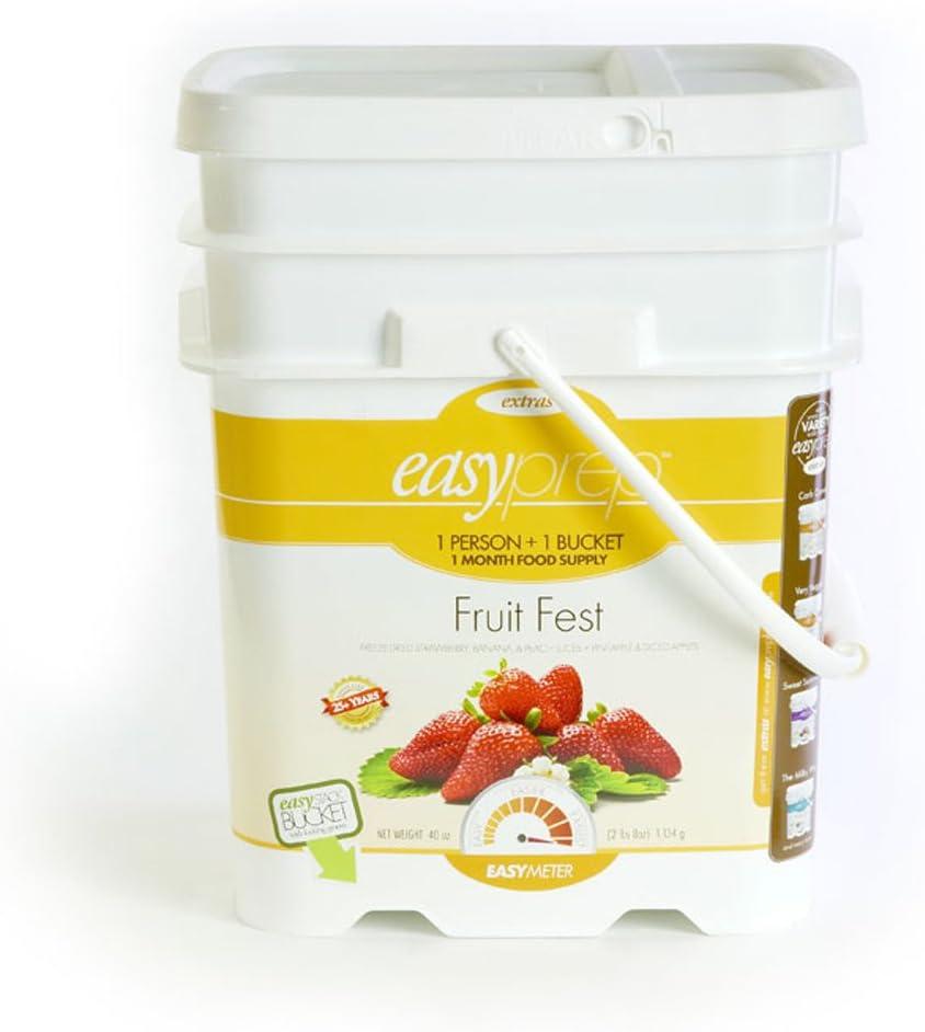 EasyPrep Fruit Fest Emergency Food Storage Kit, Freeze-Dried Fruit, Variety (1-Pack | 168 Total Servings)
