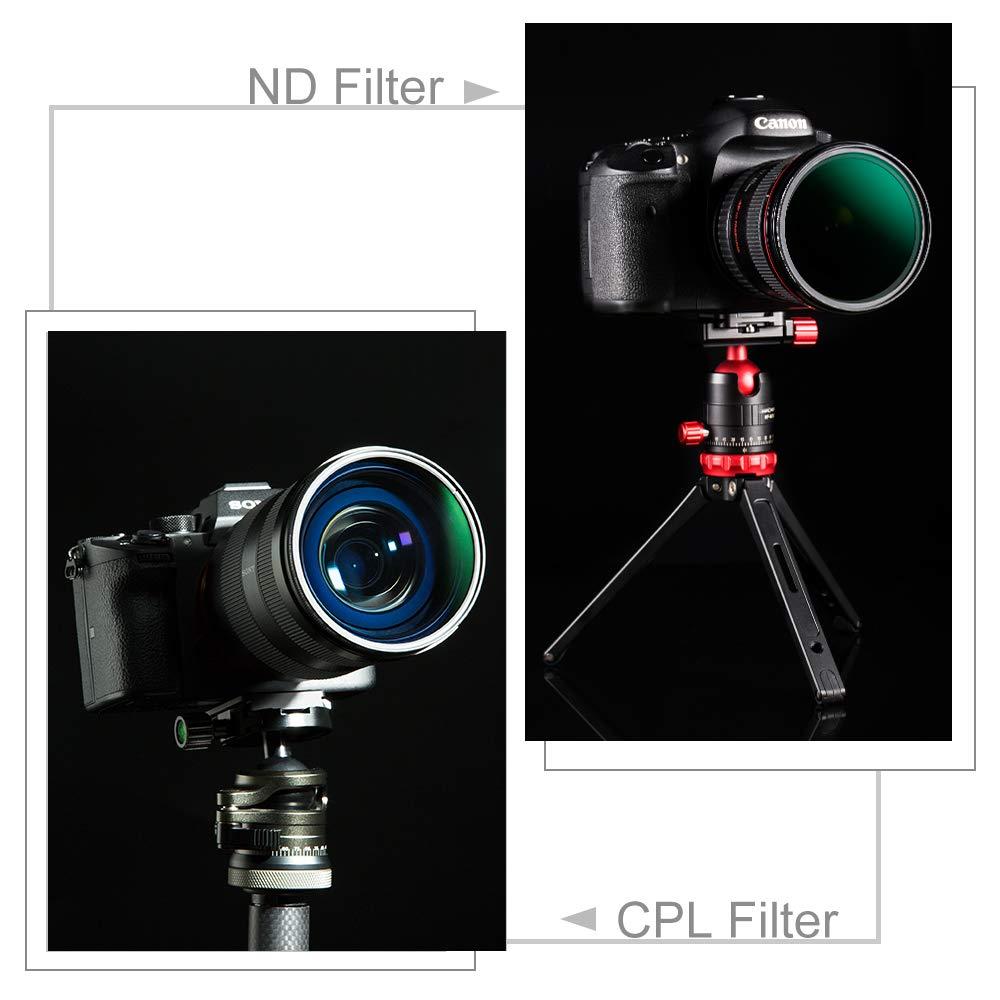 Rivestimento Ultrasottile Vetro ottico importato K/&F Concept Kit Filtro ND da 67 mm per Filtro Circolare incl ND1000 CPL e Sacchetto Filtro