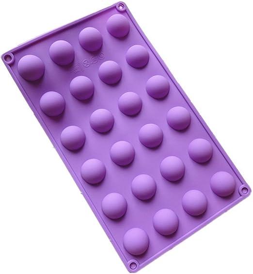 Yhcean Molde de silicona para cupcakes, diseño de bolas de media esfera, color morado: Amazon.es: Hogar