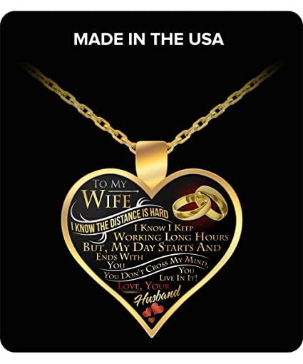 Great Idea For Wife Gifts Necklace To My Pendant MY WIFE