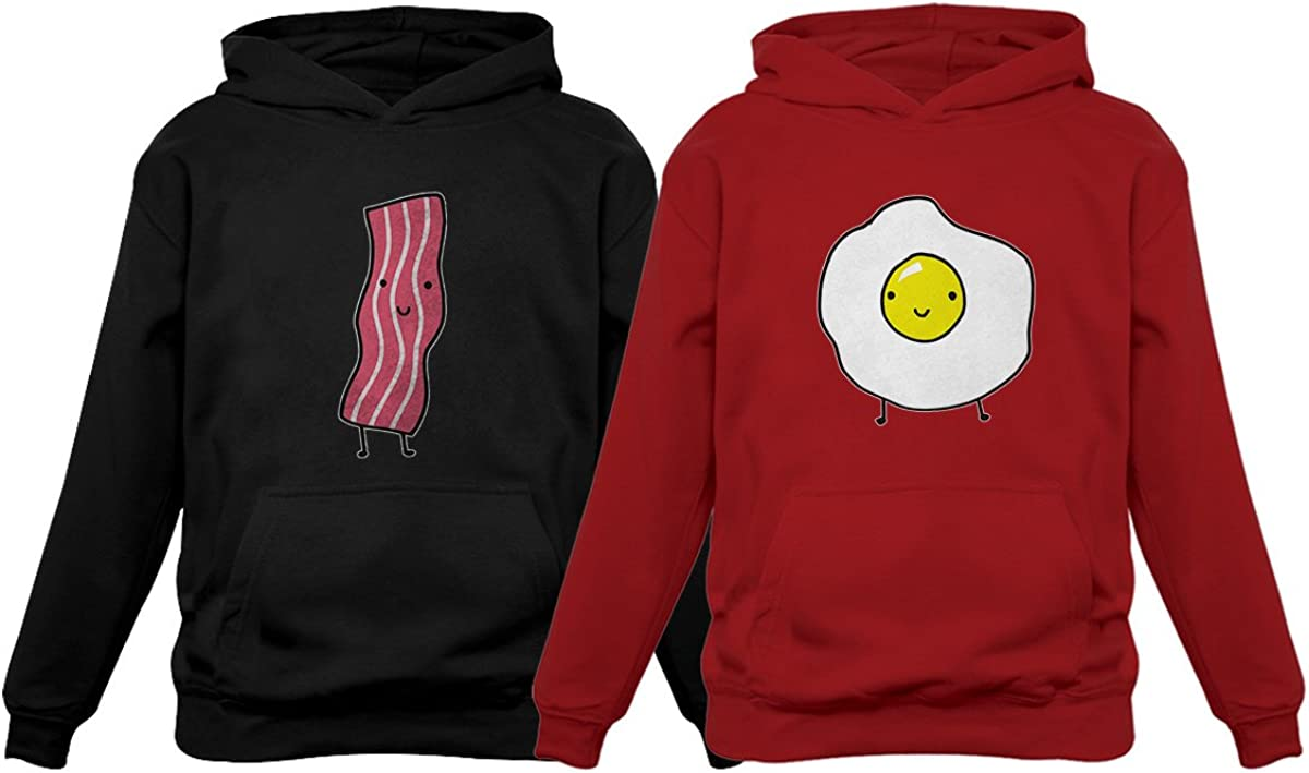 Bacon & Eggs for Him & Her Funny Matching Couples Hoodies