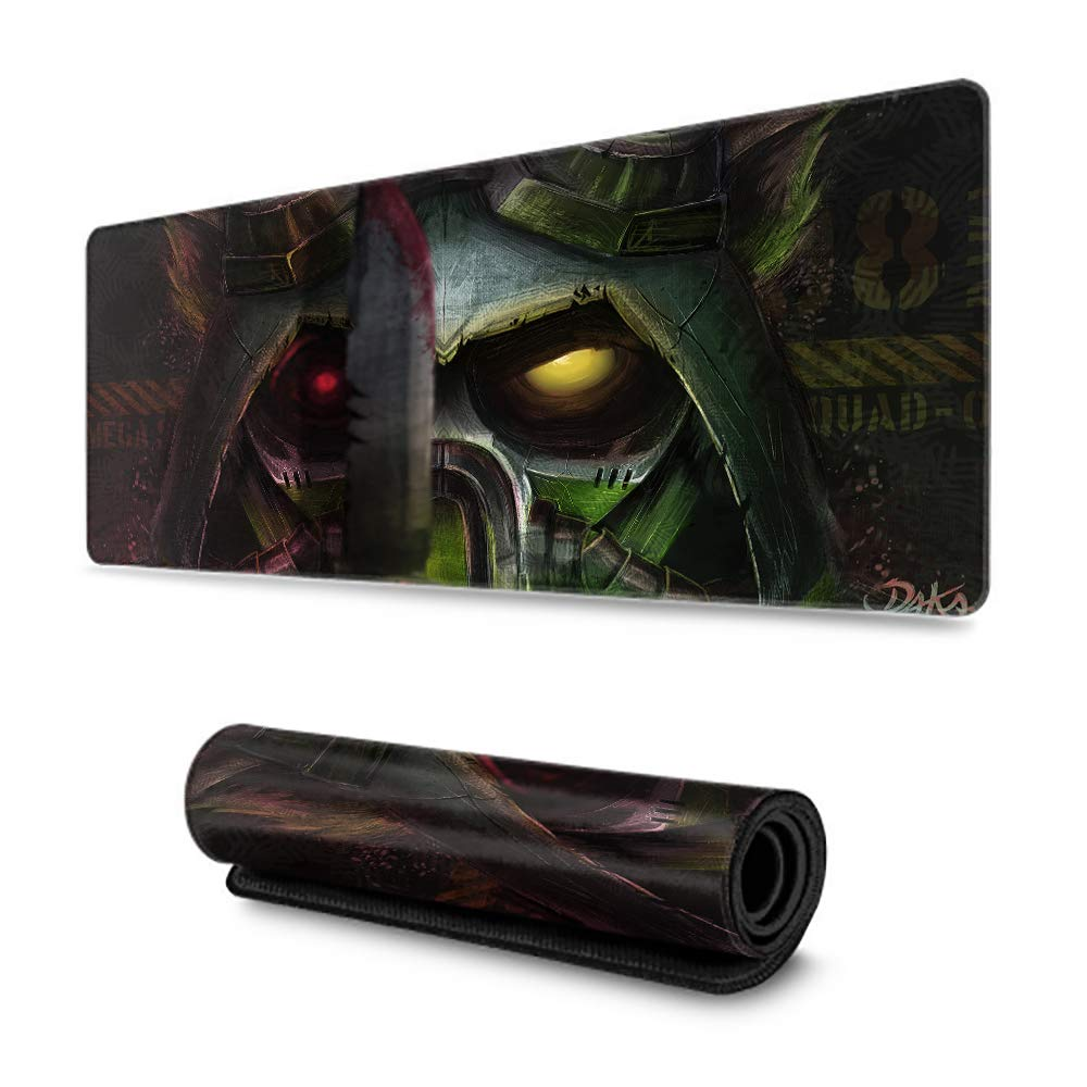 Mouse Pad Mat, Precise Mouse Pad, Thick Large, Water-Resistant, Non-Slip Base The Swift Scout-Teemo League of Legends - 15.7'' x 29.5'' inch by Kgblfd