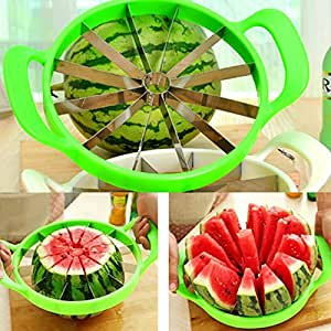 Simply Silver - Fruit Melon Cantaloupe Slicer Watermelon Kitchen Tool Stainless Cutter 25cm US - Unbranded