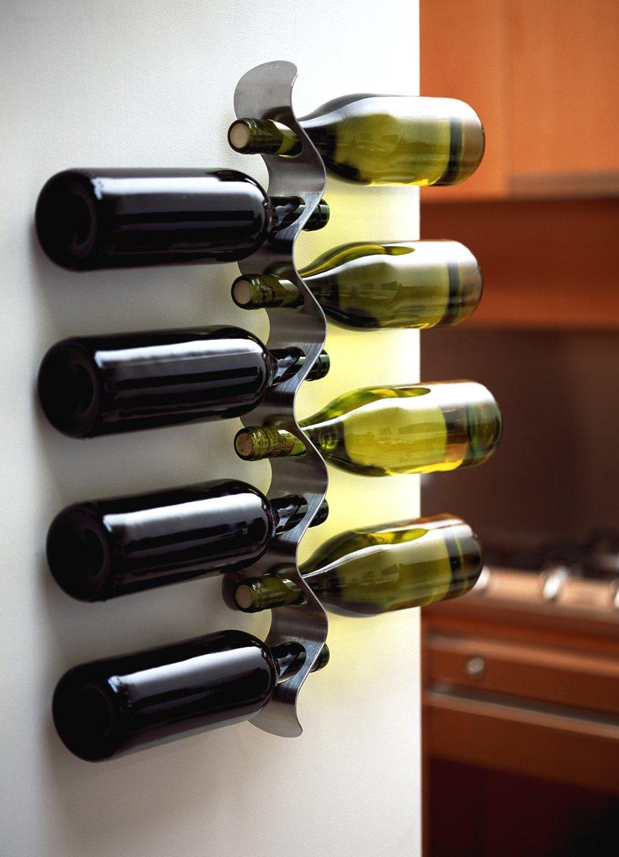 Black+Blum Flow Wine Rack Stainless Steel Holds Champagne bottles