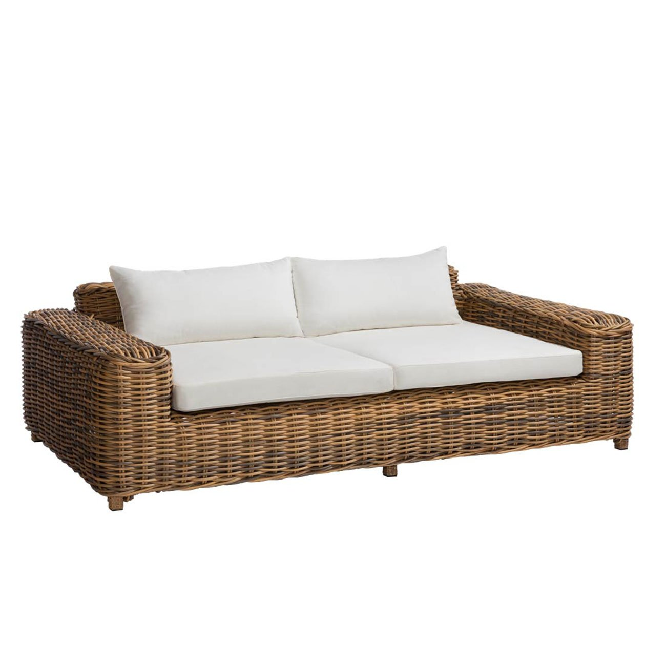 loungesofa garten outliv versailles luxury 2 sitzer gartensofa stahl polyrattan geflecht mix. Black Bedroom Furniture Sets. Home Design Ideas