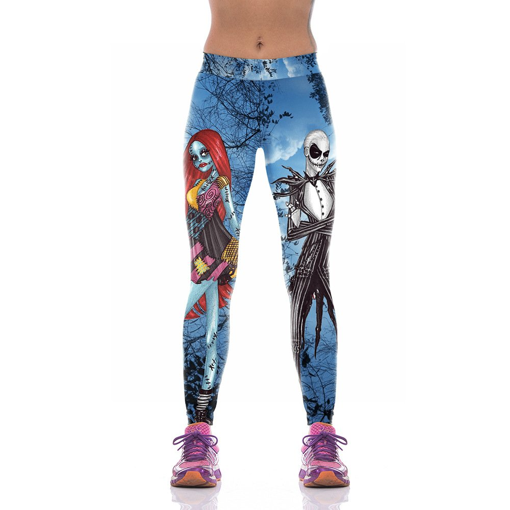 MAOYYMYJK Yoga-Hose Für Damen Digitaldruck-Hosen-Weibliches Halloween-Zombie-Mutter-Reihen-Yoga Keucht Wy1001
