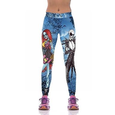 HXX Yoga Pant Women Leggings 3D Printed Halloween Monster ...
