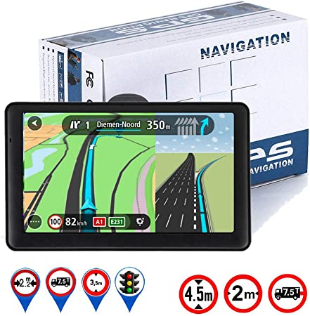 LONGRUF Car GPS Navigation,5-inch 256MB-8GB Real Voice Broadcast, Install The Latest Map of The United States Free Update Lifetime Map