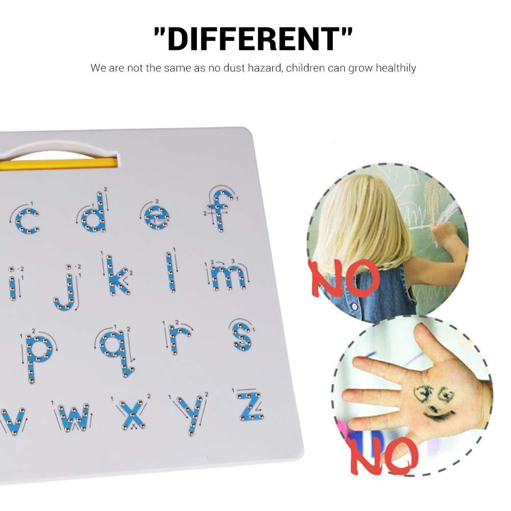 Daxoon Magnetische Zeichenbrett Alphabet Tracing Board Lernen Vorschule Geschenk f/ür Kinder