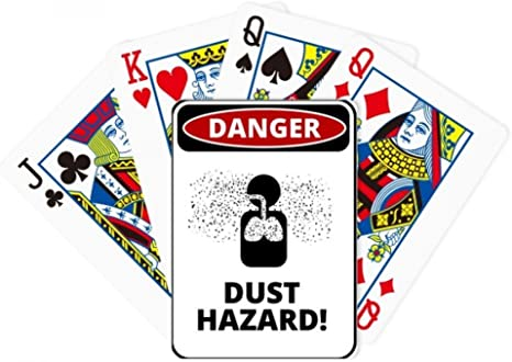 Danger riesgo de contaminación del aire polvo ilustración Poker juego de cartas Juego De Mesa Regalo: Amazon.es: Deportes y aire libre