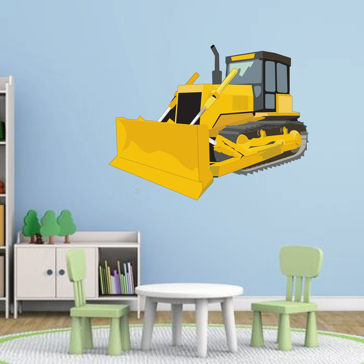 Amazon.com: cik77 Full Color Wall decal bulldozer machine large ...