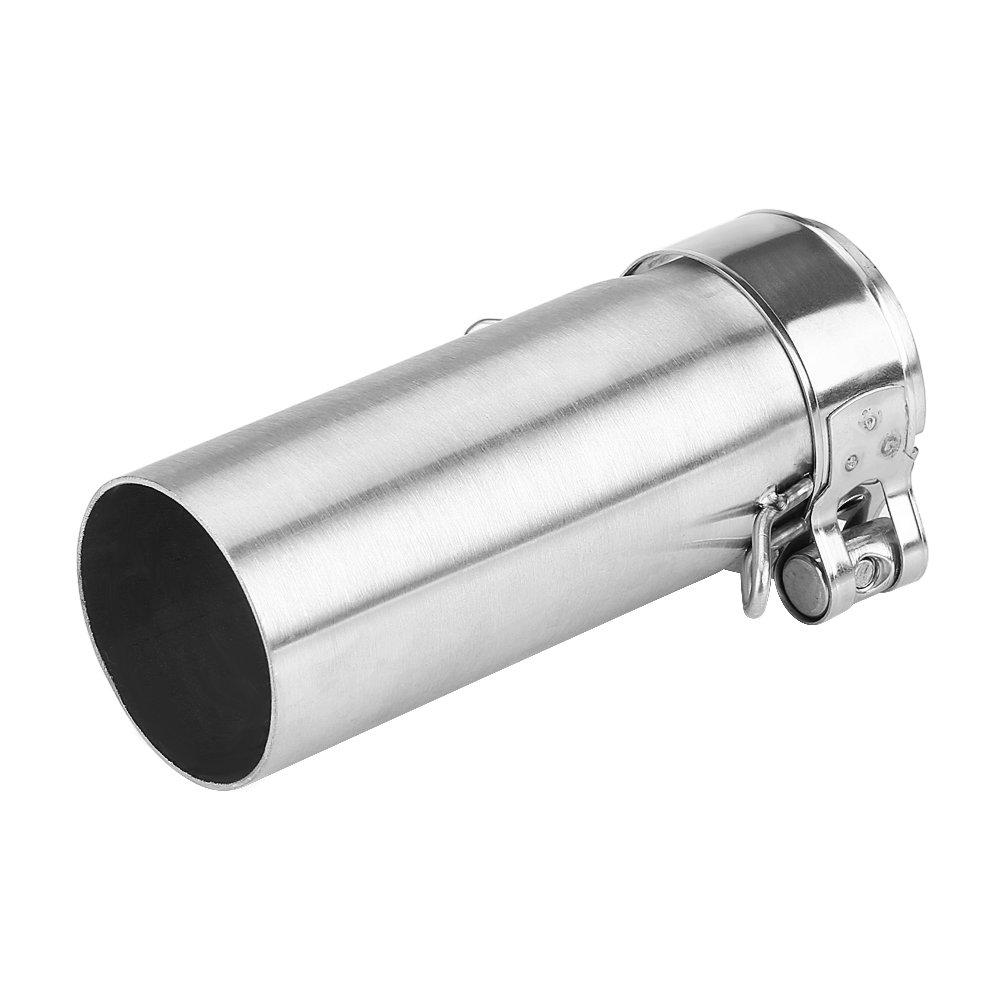 Qiilu 51mm Moto Slip On scarico centrale connettore Adattatore tubo