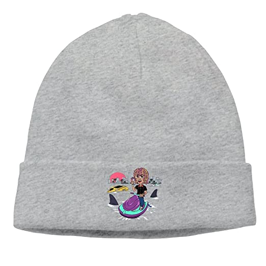 f375550674e Lil Pump Gucci-Gang Logo Cable Knit Skull Caps Thick Soft   Spring ...
