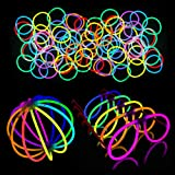 Lumistick Glow Sticks 200 Piece DJ Essentials EDM Rave Dance Party Pack Glowsticks for Bracelets, Glasses, and Balls