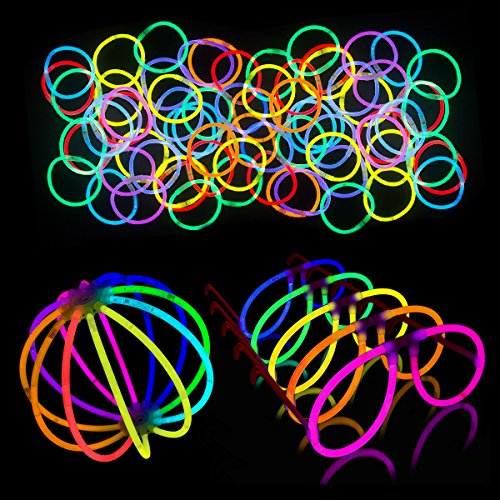 Lumistick Glow Sticks 200 Piece DJ Essentials EDM Rave Dance Party Pack Glowsticks for Bracelets, Glasses, and Balls by Lumistick