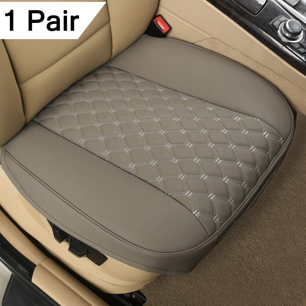 Sedan SUV Truck Van MPV 21.26/×20.86 Inches - Black,Triangle Pattern Black Panther 1 Pair Luxury PU Leather Car Seat Covers Cushions Front Seat Bottoms Protectors,Compatible with 90/% Vehicles