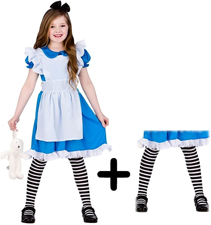 Ladies Wonderland Princess Alice Fancy Dress Costume Book Day Outfit by Smiffys