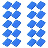 Mallofusa 10 Pack Colorful Sports Basketball Football Absorbent Wristband Sweatbands Party Outdoor Activity (Dark Blue)