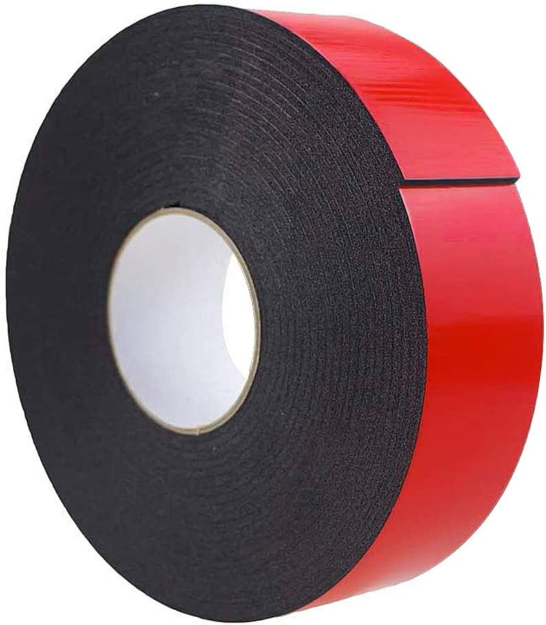 Black 10m Super Strong Waterproof Self Adhesive Double Sided Foam Tape Gift