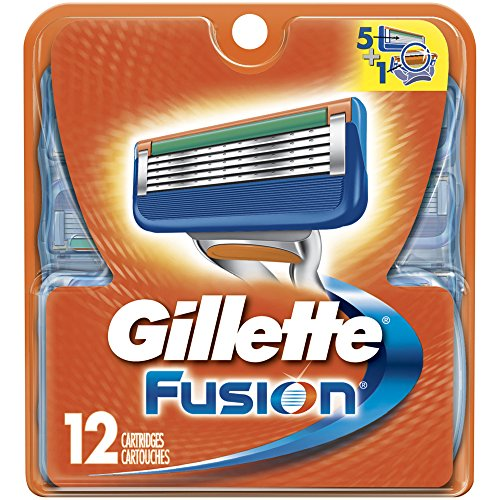 Gillette Fusion Manual Replacement Cartridges, 12 Count- Packaging May Vary