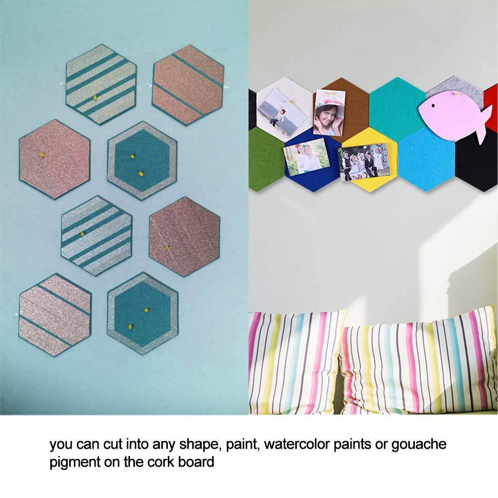 Golrisen Carrelage En Liège Hexagon Pin Board Colle Cork