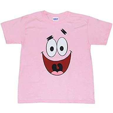 559e14cdf Amazon.com: Animation Shops Spongebob Patrick Star Face Toddler T ...