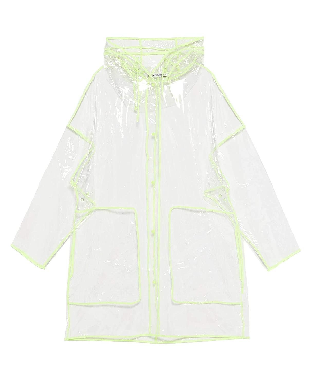 57c5e22a5 Amazon.com: Zara Women Transparent Raincoat 1255/007: Clothing