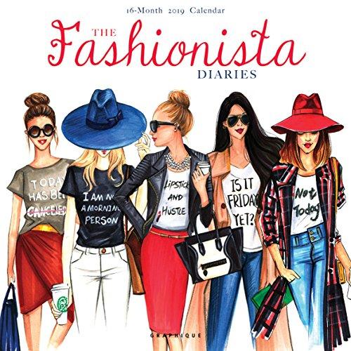 Graphique The Fashionista Diaries Wall Calendar - 16-Month 2019 Calendar, 12
