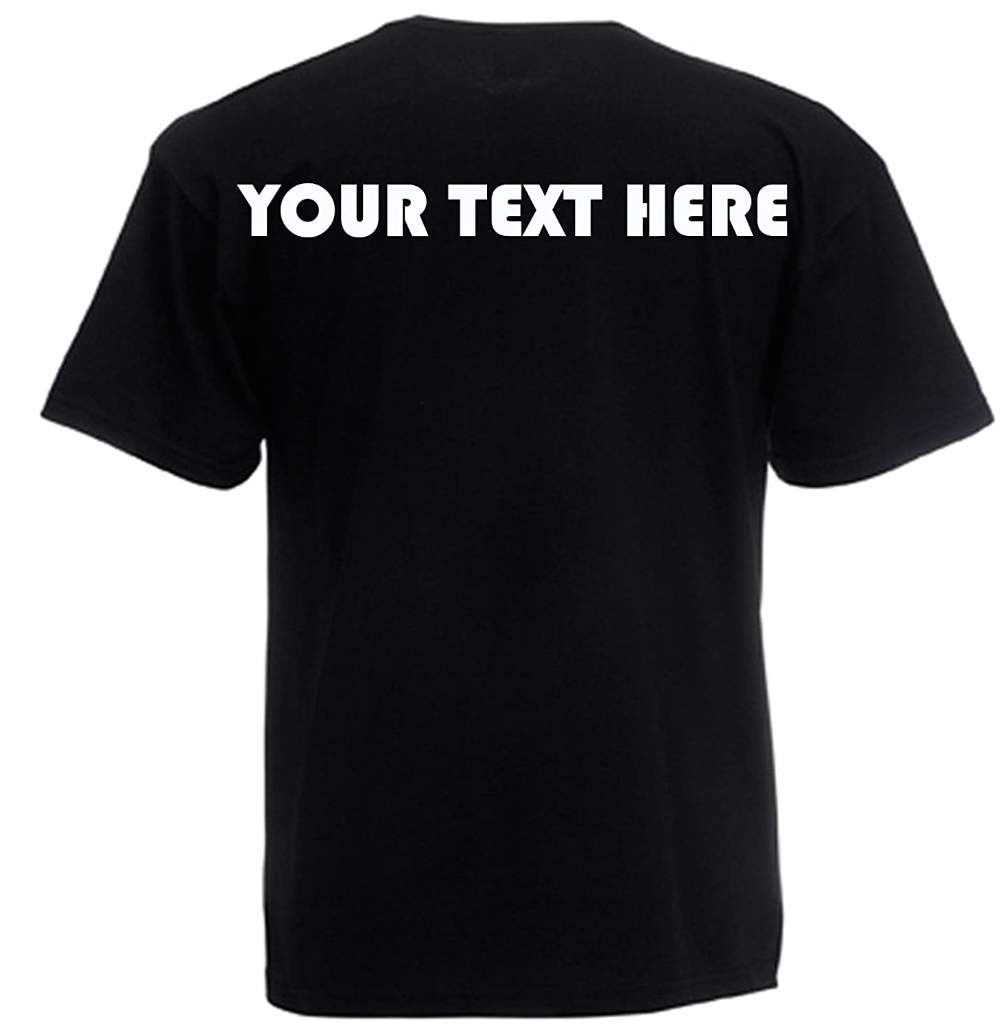 53c15c28e Custom Printed T-shirts (FRONT & BACK), Personalised By You! Great Gift!:  Amazon.co.uk: Clothing