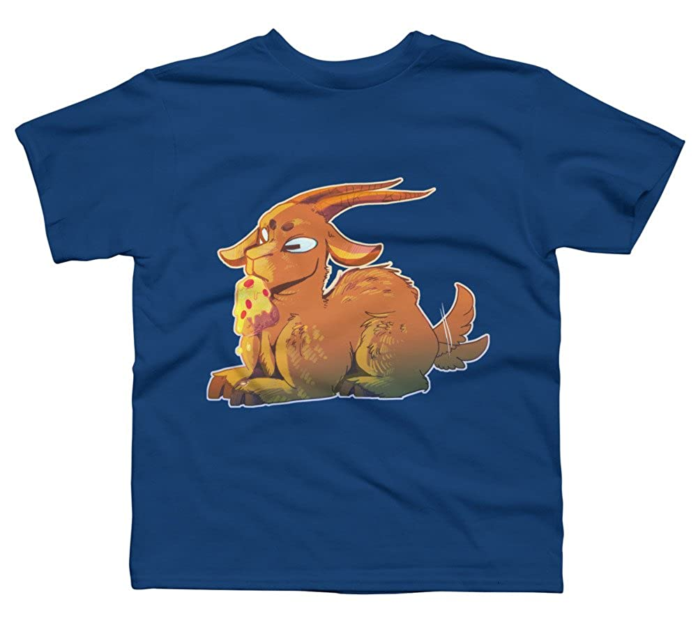 Design By Humans Goat Boys Youth Graphic T Shirt