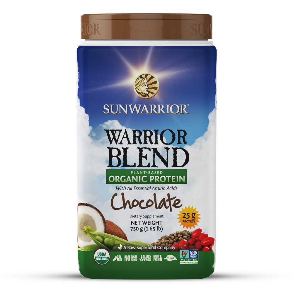 Sunwarrior - Warrior Blend, Raw, Plant Based, Organic Protein, Chocolate, 30 servings