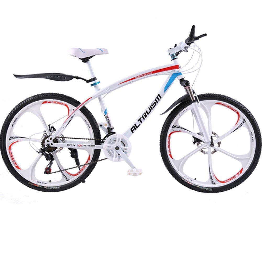 AltruismQ1 マウンテンバイク 26インチ ロードバイク アルミニウム合金 シマノ21段変速 24段変速 軽量 B019TYTFEY白 鋼鉄製 21 26\